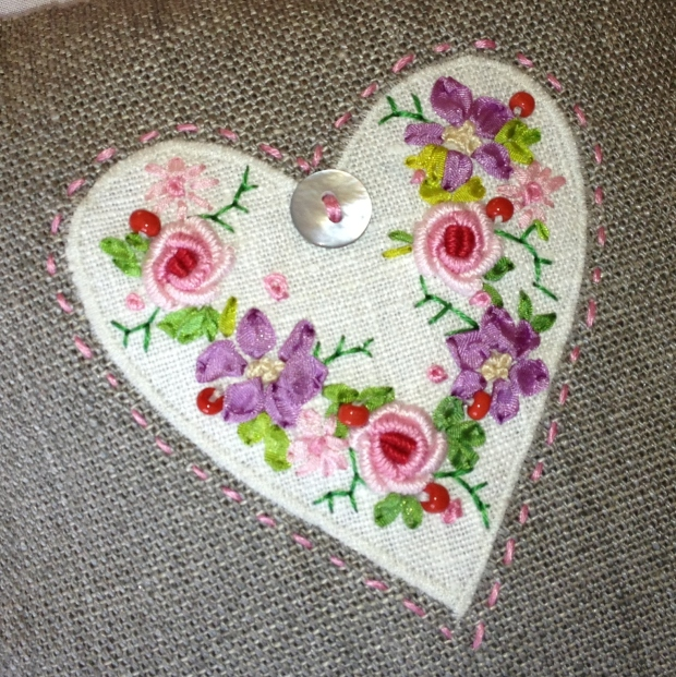 Hand embroidered Lavender Door Hanging