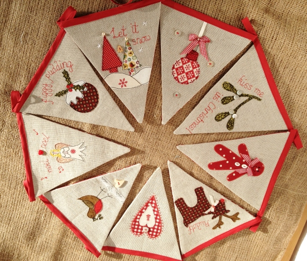 Jane Lightfoot Designs Christmas Bunting