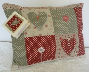 Patchwork 'hearts and flowers