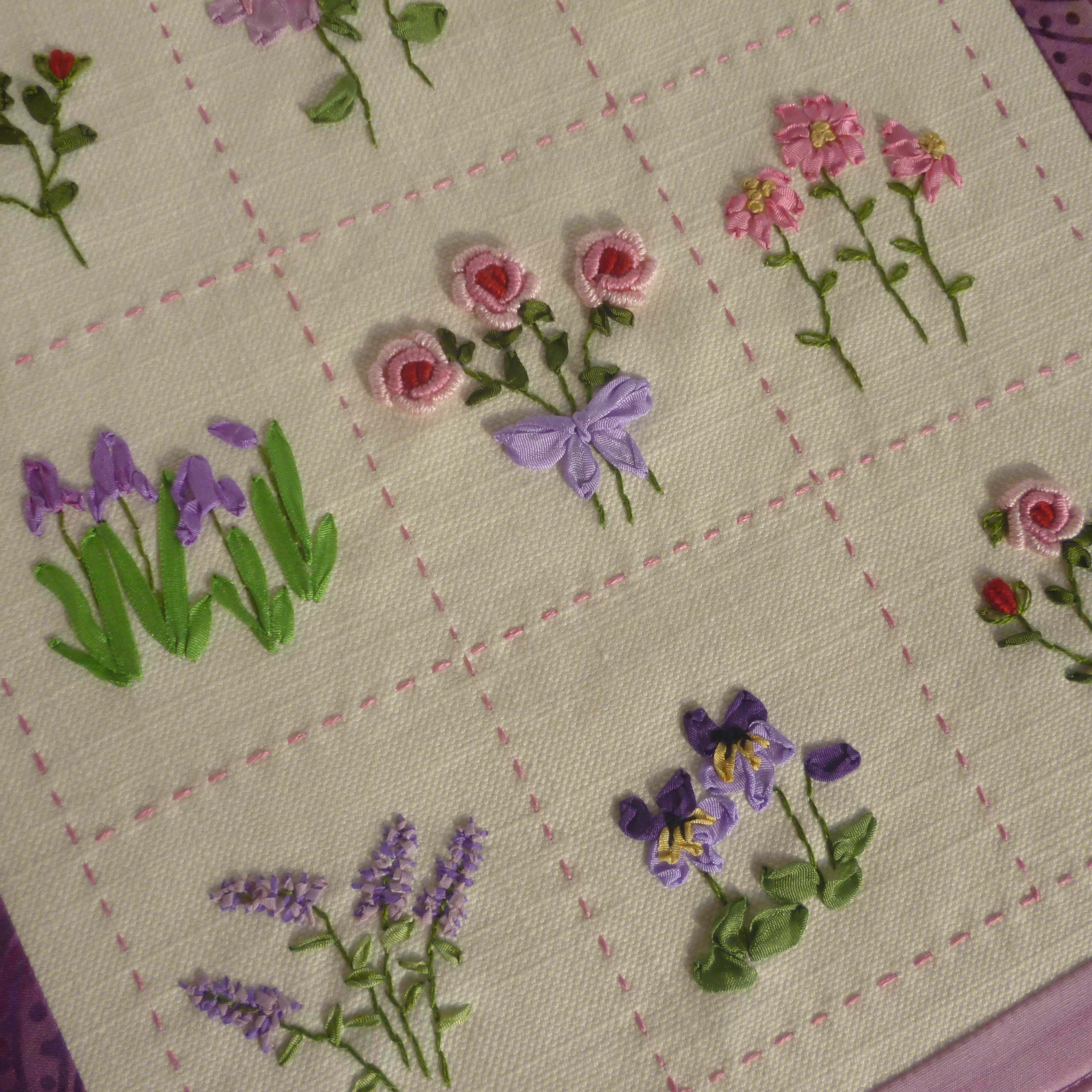 The Gallery For --u0026gt; Ribbon Embroidery Flower Garden