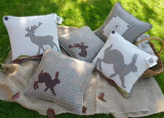 Appliqued Cushions by Jane Lightfoot Designs