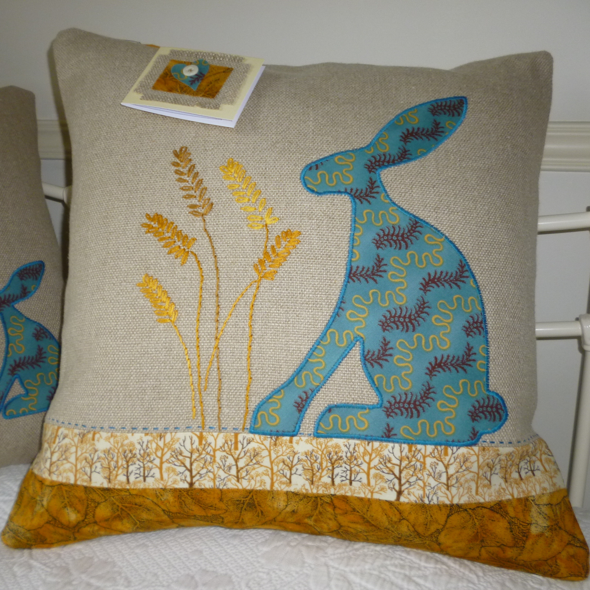 Harvest Hare Cushion