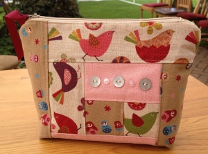 Sarah's Patchwork Cosmetics Purse