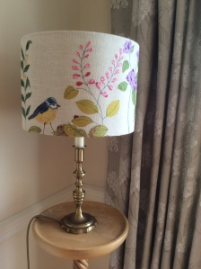 Appliqued lampshade
